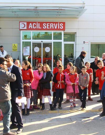 Erbaa'da 41 öğrenci hastaneye kaldırıldı