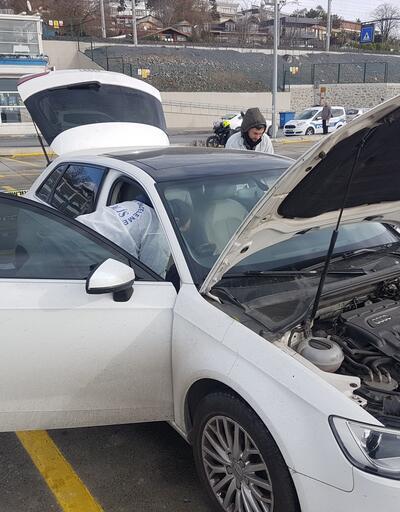 İSPARK otoparkındaki araçta intihar girişimi