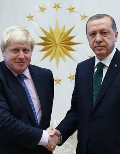 Son dakika... Cumhurbaşkanı Erdoğan, Boris Johnson ile görüştü