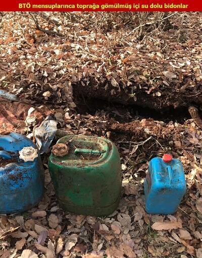 PKK'lı teröristlerce kullanılan 3 kış sığınağı ve 19 mağara imha edildi