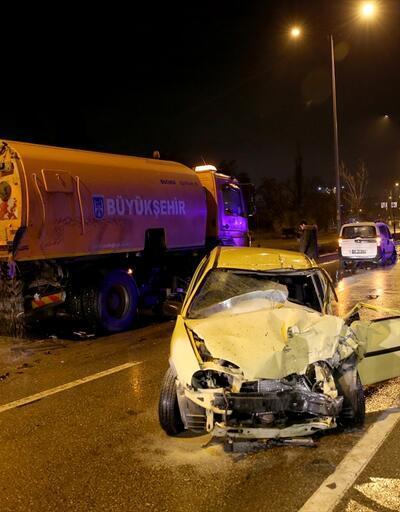 Başkentte zincirleme trafik kazası