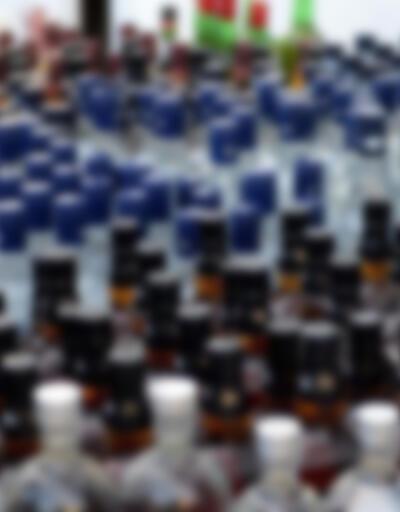 Satışa hazır 10 bin 404 şişe sahte içki ele geçirildi