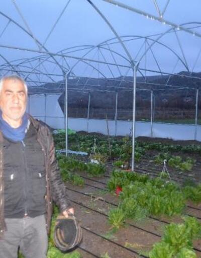 Kırıkkale'de şiddetli rüzgar seralara zarar verdi