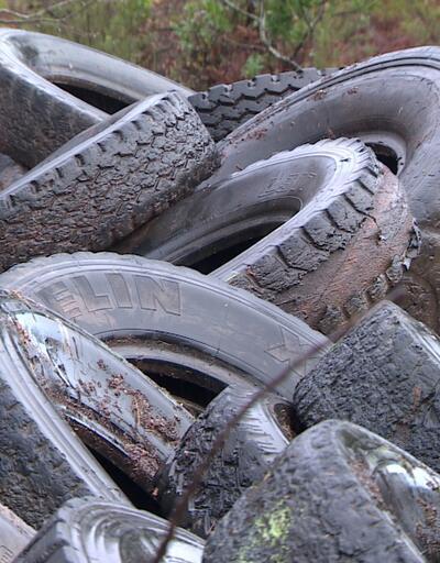 Göletten 800 lastik çıkarıldı