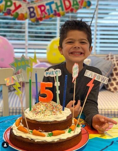 Pelin Karahan'dan oğluna doğum günü... Ali Demir 5 oldu!