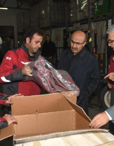 Vali Demirtaş Kızılay bölge afet yönetim müdürlüğünde incelemelerde bulundu