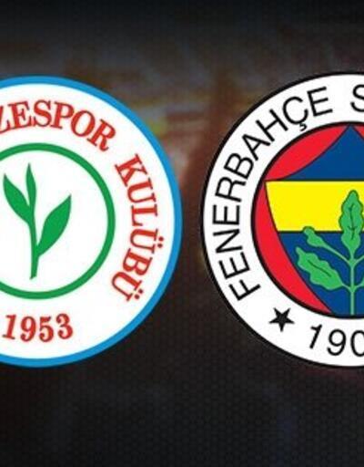 Rizespor Fenerbahçe CANLI YAYIN