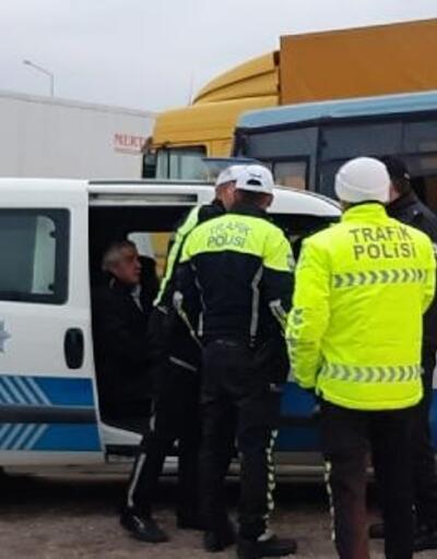 Edirne'de minibüs yayaya çarptı: 1 yaralı