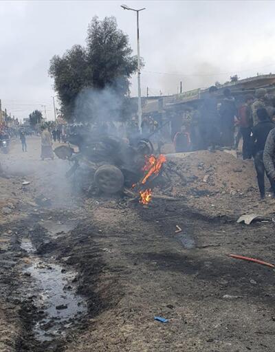 Tel Abyad'da teröristler bombalı araç patlattı