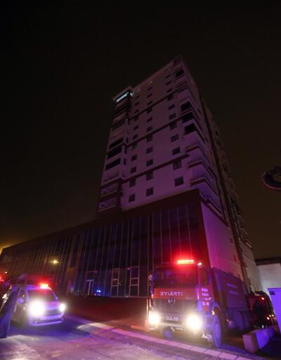 Başkentte 13 katlı binada yangın paniği