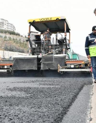 Mamak'ta 44 milyon 363 bin 445 kilogram asfalt serimi