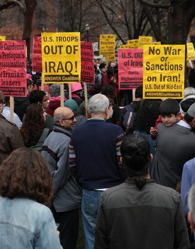 ABD'nin kalbinde Trump'a İran protestosu