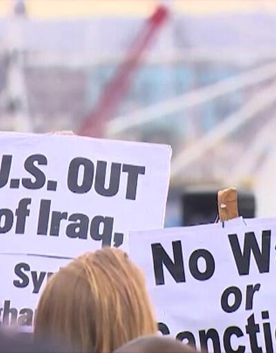 Savaş karşıtı Amerikalılar sokağa çıktı