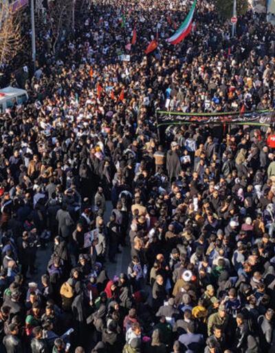 Süleymani'nin cenazesinde 35 kişi hayatını kaybetti! İzdiham anı kamerada
