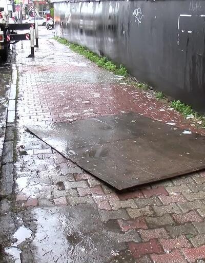 Reklam panosu üzerine düştü