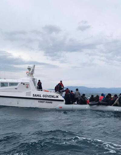 193 göçmen Çanakkale açıklarında yakalandı