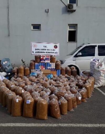 Şanlıurfa'da 1,4 ton kaçak tütüne 4 gözaltı