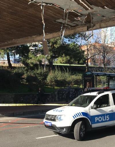 Beşiktaş'ta üst geçide vinç çarptı