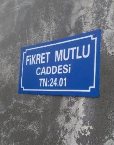 Kazada ölen belediye işçisi Fikret Mutlu'nun ismi caddeye verildi
