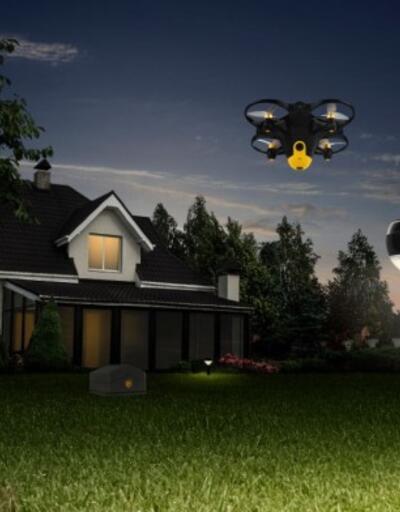 Drone ile ev koruma sistemi büyük ilgi topladı