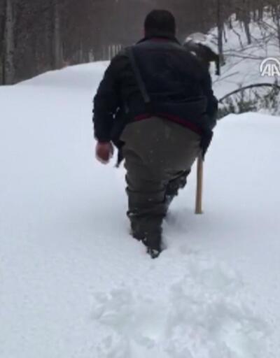 Belediye başkanı ve 2 işçi donmaktan kurtuldu