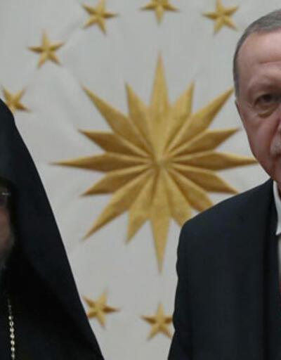 Cumhurbaşkanı Erdoğan, Türkiye Ermenileri 85. Patriği Maşalyan'ı kabul etti