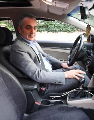 Başkan Esen, taksi direksiyonunda