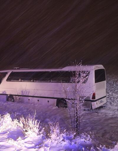 Sivas'ta otobüs şarampole indi: 7 yaralı