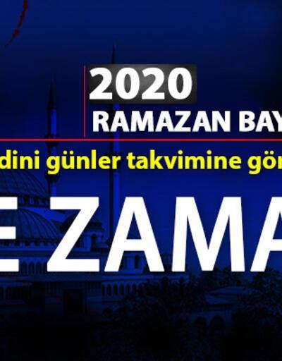 2020 Ramazan Bayramı tarihi ne zaman, bayram tatili hangi gün?