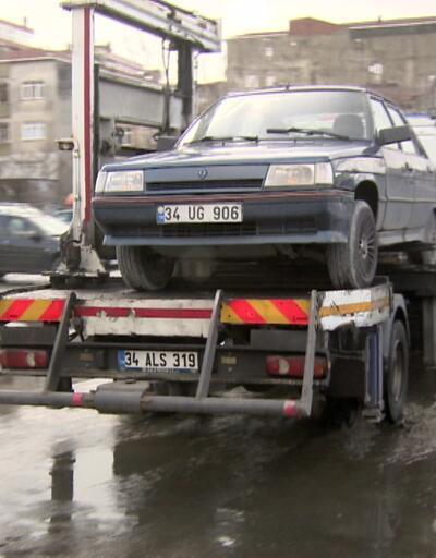 Hatalı park eden araçlar