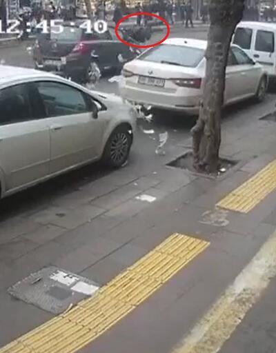 Kaza geçiren kişinin paraları havaya saçıldı