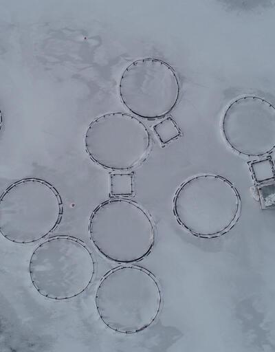 Zernek Baraj Gölü dondu
