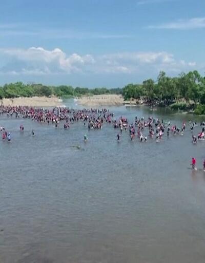 Göçmenler Meksika sınırına ulaştı
