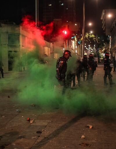 Kolombiya'da göstericiler polisle çatıştı