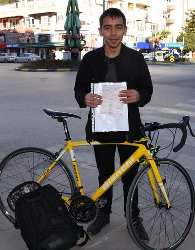 Bisikletliye 420 lira ceza kesildi