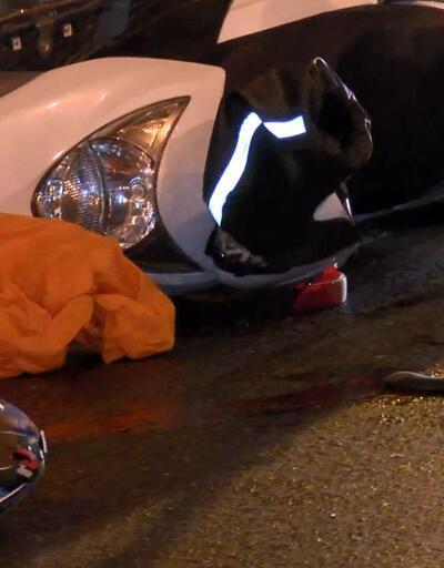 İki TIR'ın arasında kalan motosikletli hayatını kaybetti