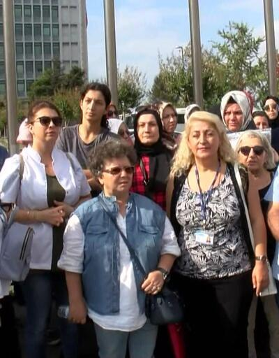İBB önünde öğretmenlerin eylemi