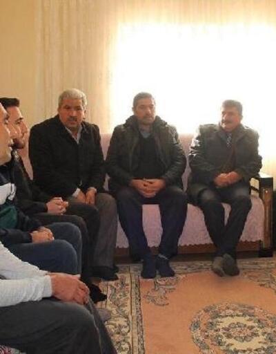 İlçe protokolü, Barış Pınarı Harekatı gazisini ziyaret etti