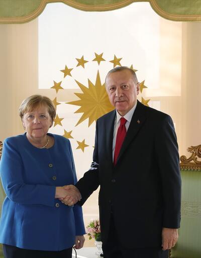 Cumhurbaşkanı Erdoğan, Merkel görüşmesi başladı