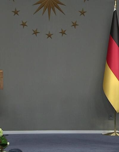 Cumhurbaşkanı Erdoğan ve Angela Merkel ortak açıklama yapıyor