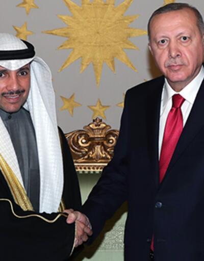 Cumhurbaşkanı Erdoğan, Kuveyt Ulusal Meclis Başkanı Ganim'i kabul etti