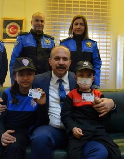 Küçük Hasan ve Hatice'nin polis olma hayali gerçekleşti