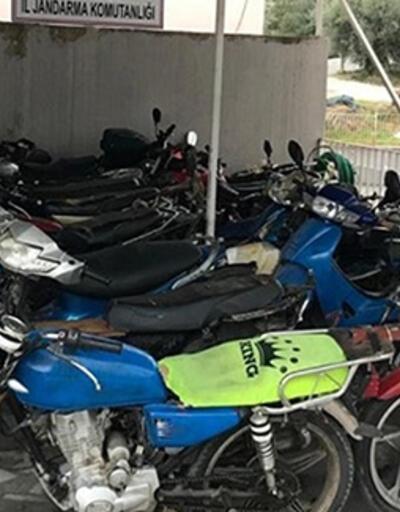 Balıkesir'de 28 çalıntı motosiklet ele geçirildi