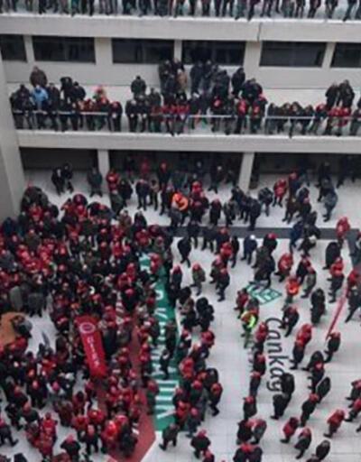 Zam alamayan işçiler, Çankaya Belediyesi'ni bastı