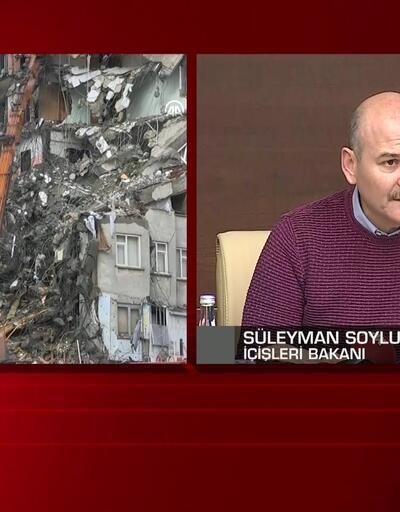 Bakan Soylu deprem bölgesindeki son durumu aktarıyor
