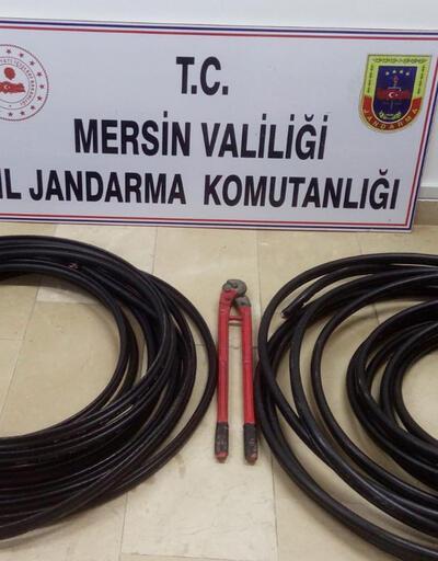 Kablo hırsızlarına ormanda baskın