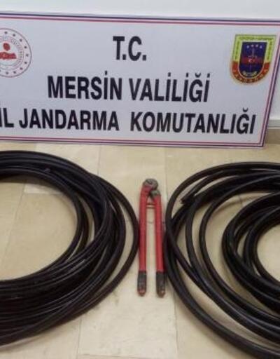 Kablo hırsızları ormanda saklanırken yakalandı