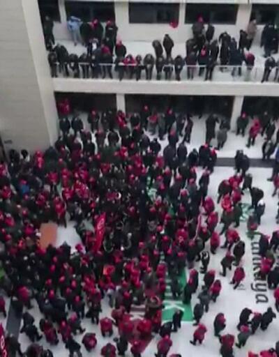Çankaya Belediyesi'nde işçi eylemi