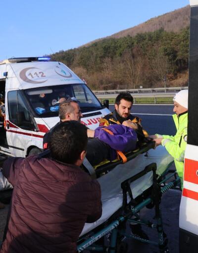 Düzce'de minibüs devrildi: 9 yaralı