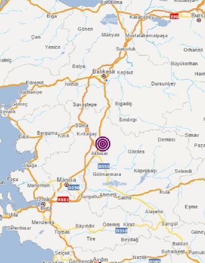 Akhisar'da 4.6 büyüklüğünde deprem